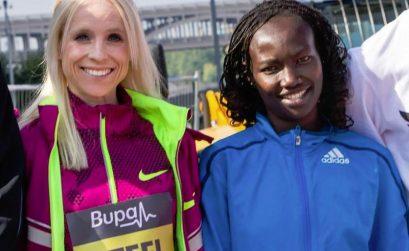Kenya's Mary Keitany at the 2014 Bupa Great North Run