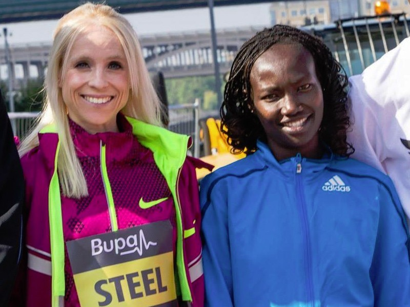 Kenya's Mary Keitany at the 2014 Bupa Great North Run
