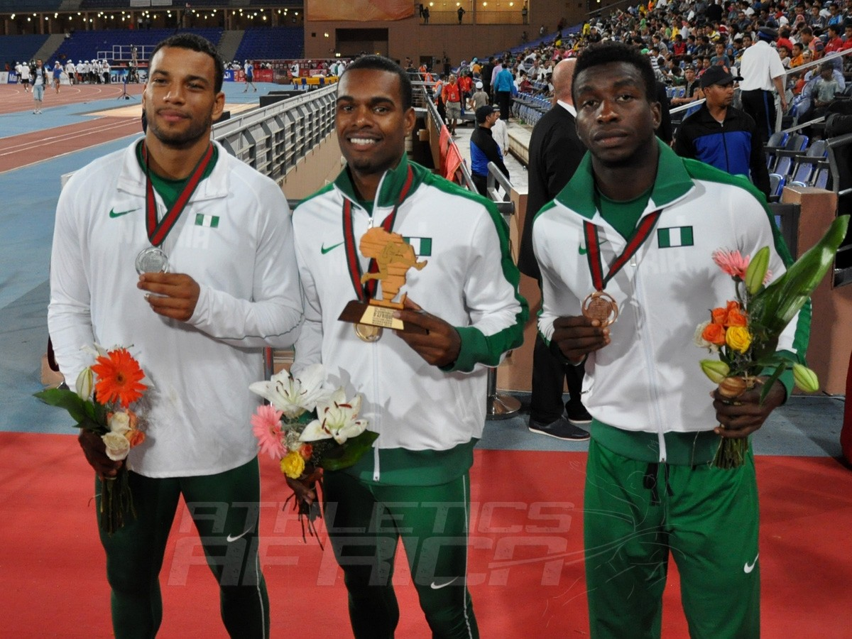 Alex Al-Ameen - Tyron Akins - Martins Ogierakhi - 110m Hurdles Men / Photo credit: Yomi Omogbeja
