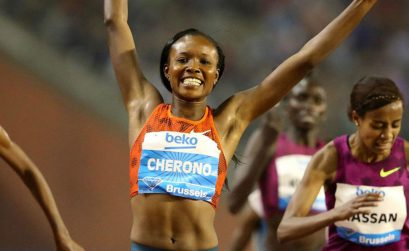 Kenya's Mercy Cherono withstood the challenge from 2014 world indoor champion Genzebe Dibaba to win the women's 3000m Diamond Race / Photos: © Gladys Chai von der Laage - IAAF Diamond League