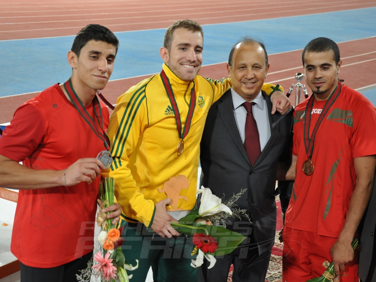 Mouhcine Cheaouri - Cheyne Rayme - Mohamed Amine Romdhana - Pole Vault Men / Photo credit: Yomi Omogbeja