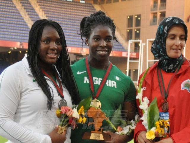 Nwanneka Okwelogu - Chinwe Okoro - Amina Elmouden - Discus Women / Photo credit: Yomi Omogbeja