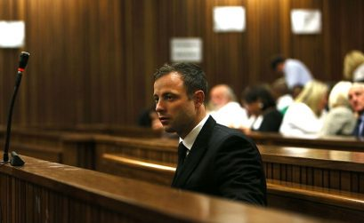 Oscar Pistorius in the dock at his Trial in Pretoria / Photo credit: Alon Skuy/Times Media Group
