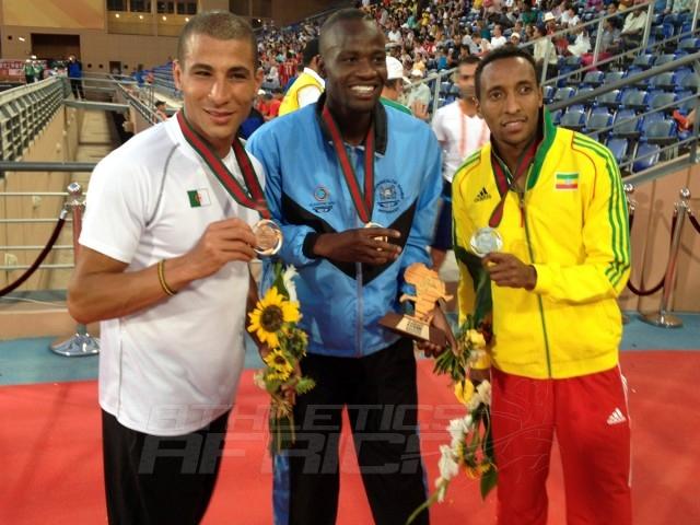 Taoufik Makhloufi - Nijel Amos - Mohammed Aman - 800m Men / Photo credit: Yomi Omogbeja