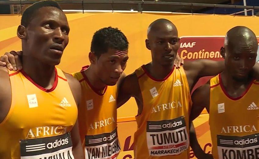 Team Africa 4x400m winning team
