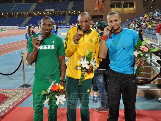 Tosin Oke - Khotso Mokoena - Roger Haitengi - Triple Jump Men / Photo credit: Yomi Omogbeja