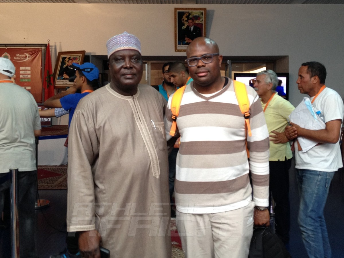 Our Editor with the CAA President, Hamad Kalkaba Malboum / Photo credit: Yomi Omogbeja