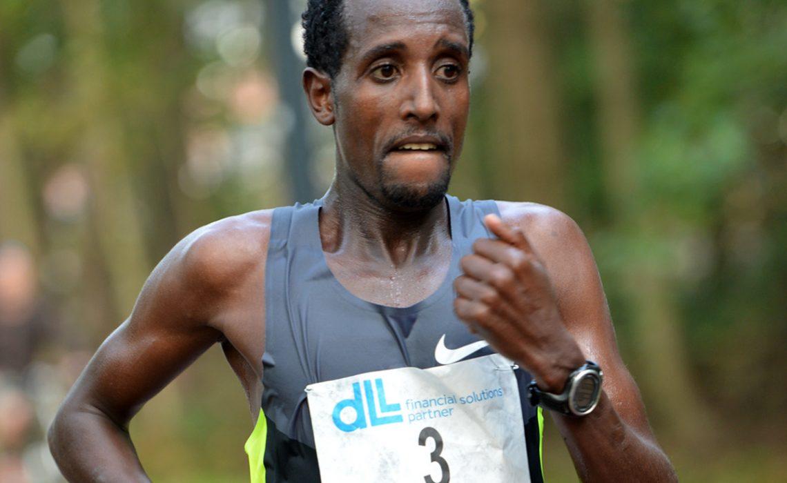 Tilahun Regassa wins the 2014 De Lage Landen Marathon Eindhoven in 2:06:21/Photo credit: Organisers / Erik van Leeuwen