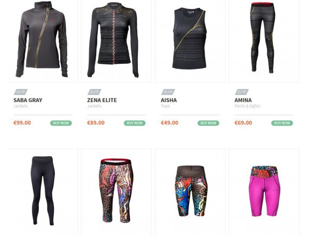 Screenshot of 'Lornah' apparel store for active women / Photo Credit: Lornahsports.com