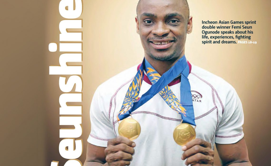 Nigerian-born Qatari sprint champion, Femi Seun Ogunode - Photo credit: DSP Magazine