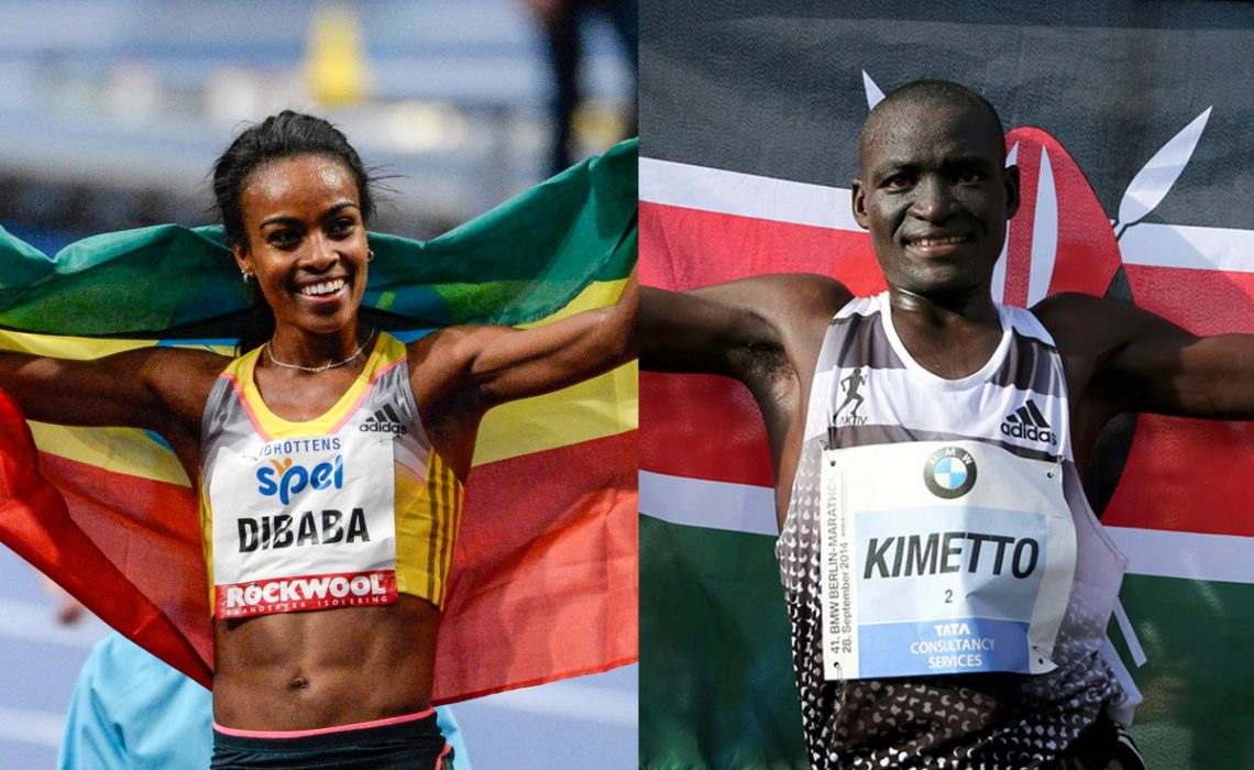 Kenyan Dennis Kimetto and Ethiopian Genzebe Dibaba made the final three-person shortlist for the 2014 World Athlete of the Year Award.