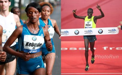 Mark Kiptoo and Aberu Kebede win BMW Frankfurt Marathon 2014 / Photo credit: Photorun.net