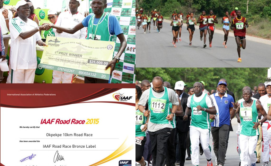 The maiden edition of the Okpekpe International Road Race was won by Kenyan Moses Masai in a time of 29:39 / Photo: Organisers