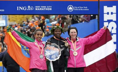 2013 TCS New York City Marathon women's champion Priscah Jeptoo from Kenya / Photo credit: AP