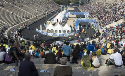 The finish point in the historic Panathenaikon Stadium in Athens / Photo credit: Athens Marathon. The Authentic