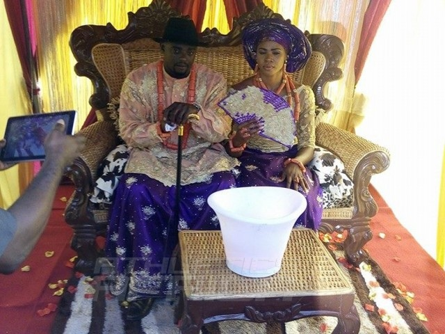 Blessing Okagbare's traditional marriage to former Heartland FC of Owerri soccer player, Igho Jude Otegheri / Photo Credit: Neyin Prince - Footballer with IGHO FC.