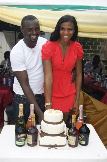 Blessing Okagbare, is married to former Heartland FC of Owerri soccer player, Igho Jude Otegheri / Photo Credit: Blessing Okagbare & Leslie Koroma