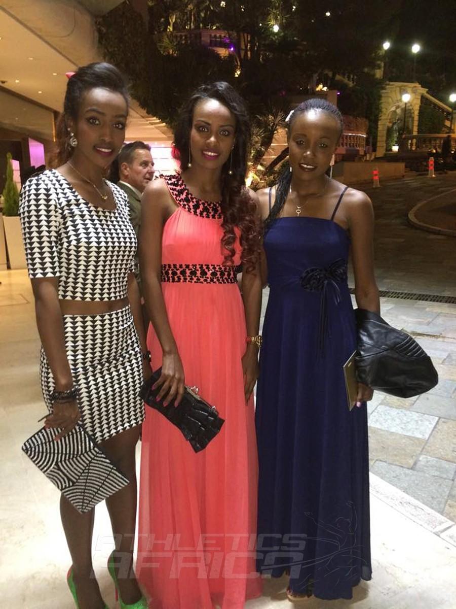 Anna Dibaba, Genzebe Dibaba (Ethiopia) and Mercy Cherono (Kenya) / Photo Credit: Mercy Cherono