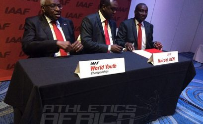 Kenyan bid team included Dr Hassan Wario Arero, the Cabinet Principal Secretary at the Ministry for Sports Culture / Photo credit: IAAF / Philippe Fitte