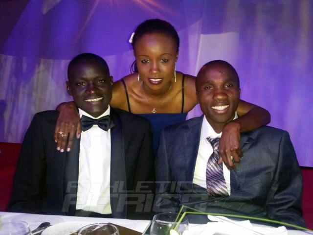 Dennis Kimetto, Silas Kiplagat and Mercy Cherono (Kenya) / Photo Credit: Mercy Cherono