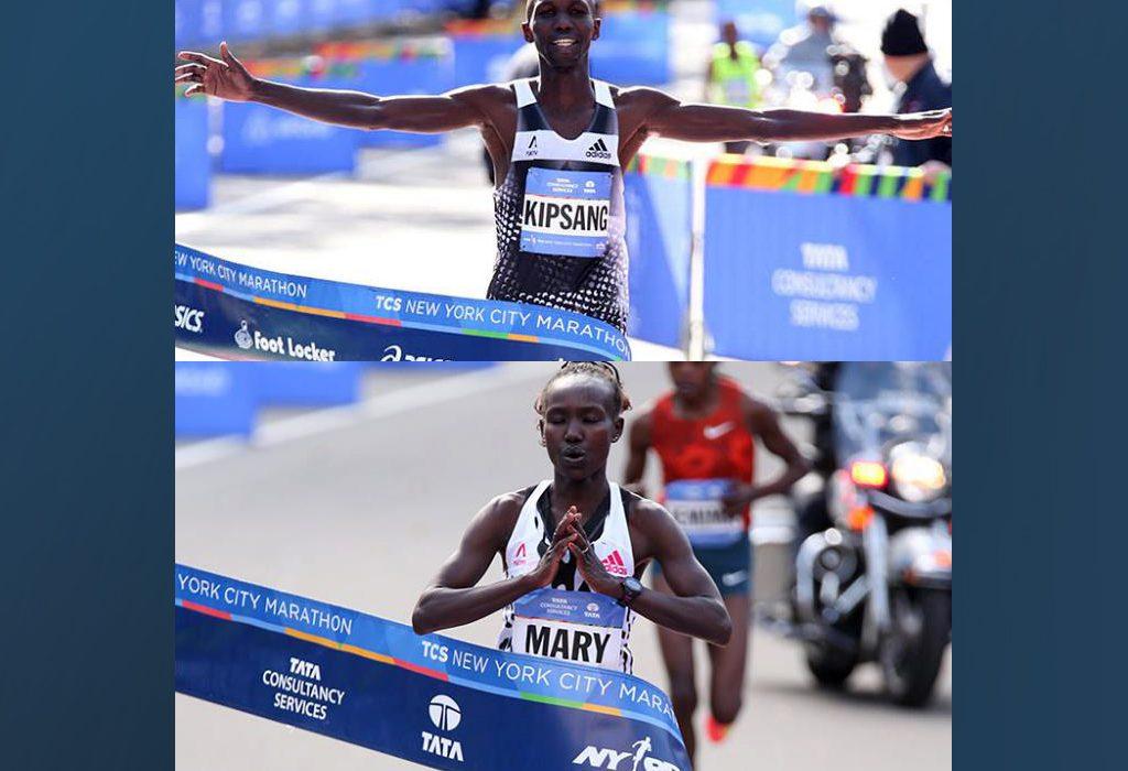 Kenyans Wilson Kipsang and Mary Keitany won the New York City marathon in 2014 / Photo: Organisers