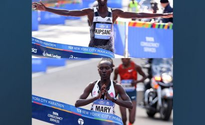 Kenyans Wilson Kipsang and Mary Keitany won the New York City marathon in 2014 / Photo: Organisers