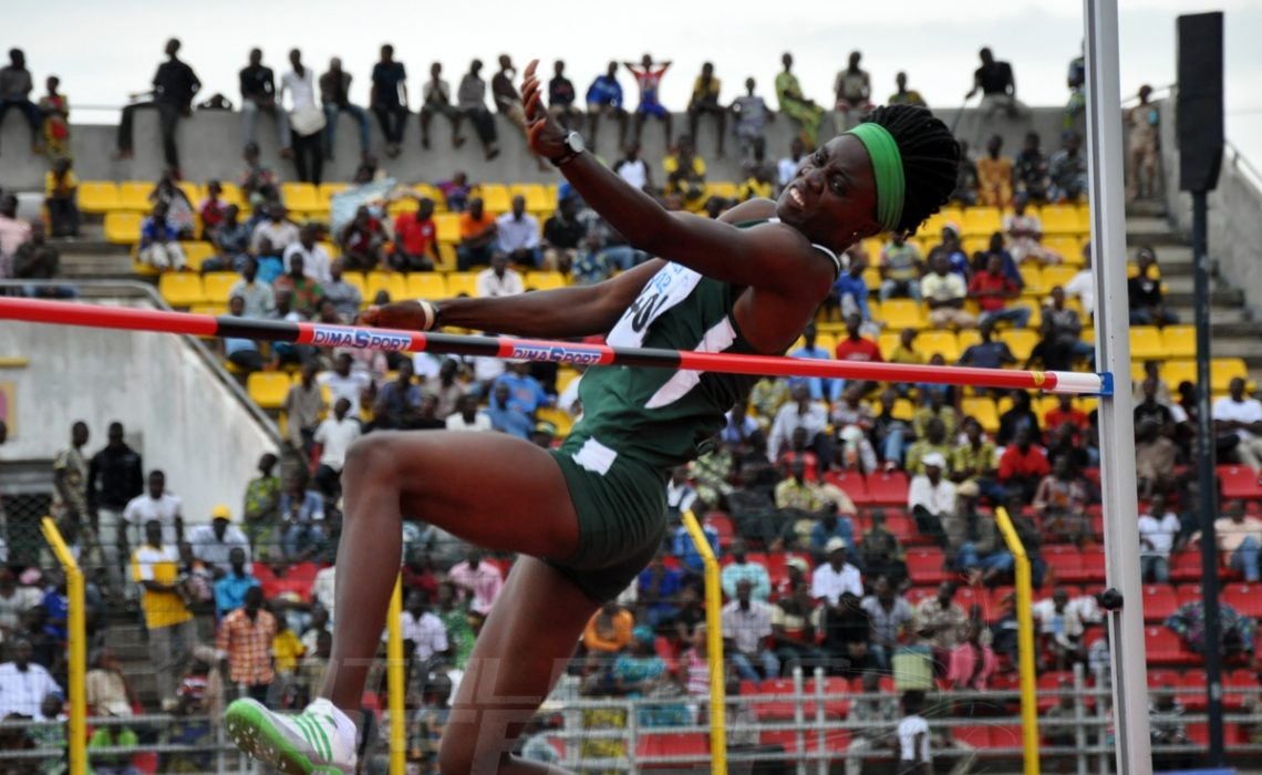 Doreen Amata-Igbokwe at the 2012 African Championships in Porto-Novo / Photo Credit: Yomi Omogbeja