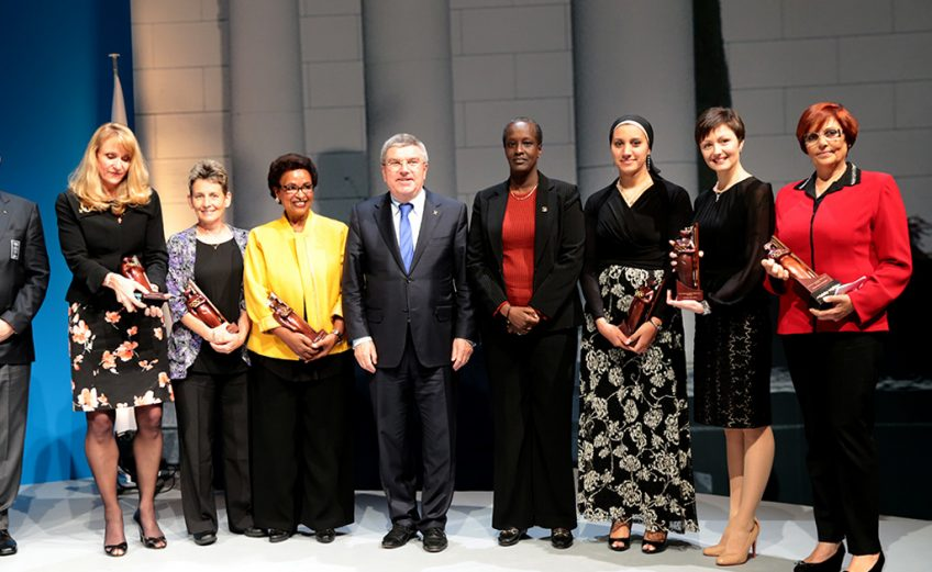 Tunisian Meriem Cherni Mizouni wins the 2014 IOC Women and Sport World Trophy ' Photo credit: IOC Media / Flickr