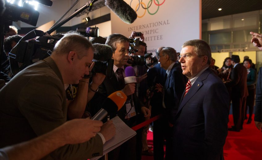 IOC President Thomas Bach during the press conference at the 127th IOC Session in Monaco / Photo Credit: IOC Media / Flickr