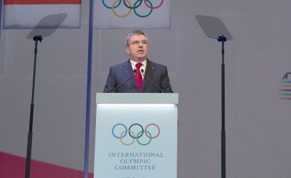 The IOC President Thomas Bach at the 127th IOC Session in Monaco - December 7, 2014 / Photo credit: IOC - Flickr