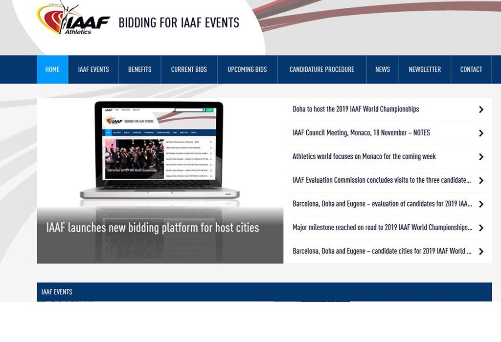 The IAAF has launched its new online platform for potential host cities of its World Athletics Series events.