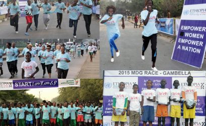 The Great Ethiopian Run organized the 2015 MDG Gambella 5K race / Photo credit: Great Ethiopian Run