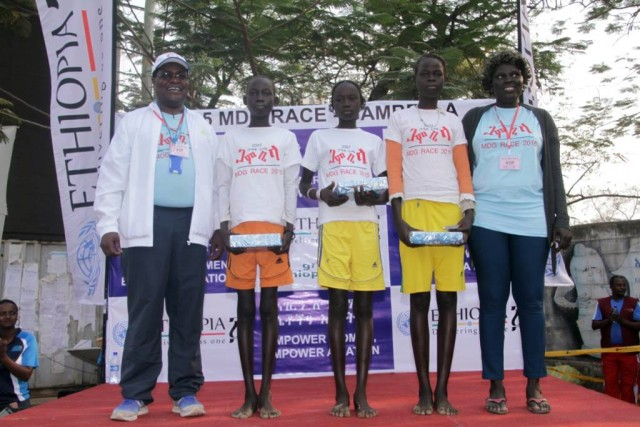 The winners - girls at the 2015 MDG Gambella 5K race / Photo credit: Great Ethiopian Run