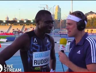 David Rudisha blasts 1:44.94 over 800m in Melbourne