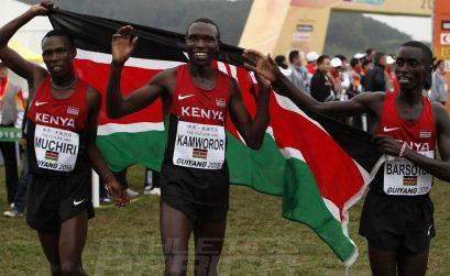 Senior Men race winner Geoffrey Kipsang Kamworor of Kenya at the IAAF World Cross Country Championships, Guiyang 2015 / Photo credit: © Getty Images for IAAF