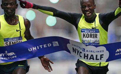 Leonard Korir wins 2015 NYC Half Marathon / Photo Credit: Rich Schultz/Getty Images