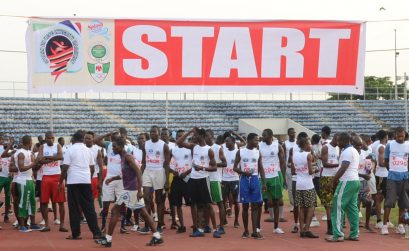 Runners at the 2015 Splash FM Integrity Marathon race / Photo credit: Splash FM Ibadan.