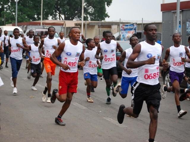 Runners at the 2015 Splash FM Integrity Marathon race / Photo credit: Splash FM Ibadan.