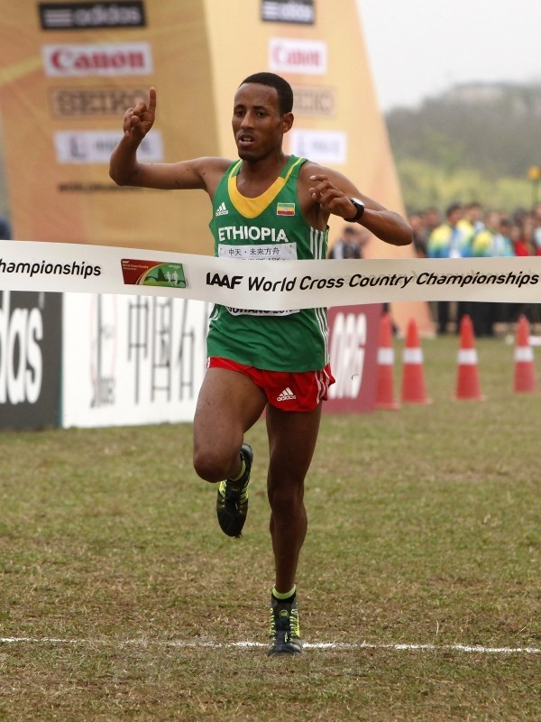 Yasin Haji wins the junior men's race at the IAAF World Cross Country Championships, Guiyang 2015 / Photo credit: © Getty Images for IAAF