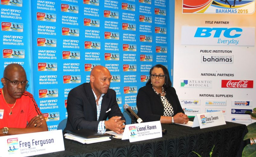 The Local Organizing Committee team at the 2nd IAAF/BTC World Relays 2015 in Nassau, The Bahamas / Photo: LOC
