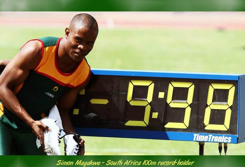 Simon Magakwe, the 2012 African champion, is the only South African to have run the 100m under 10 seconds.