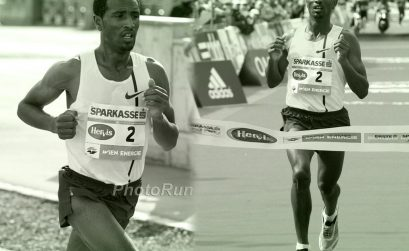 Ethiopian Sisay Lemma winning the Vienna City Marathon 2015 / Photo credit: PhotoRun.net