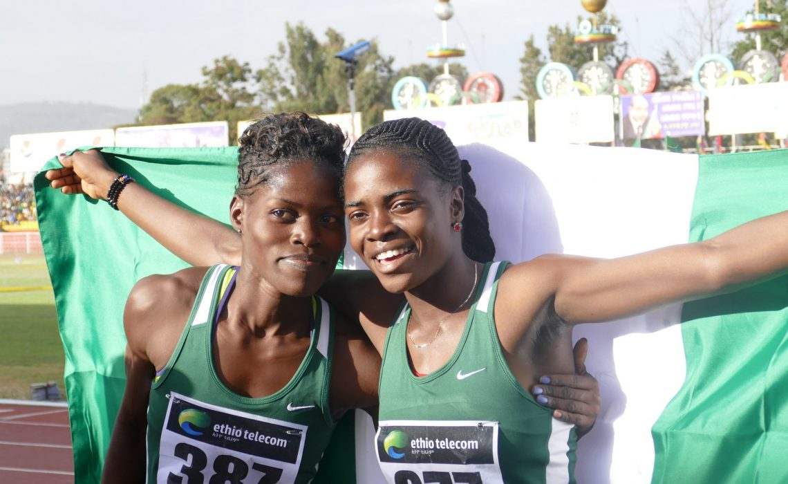Nigerian youth athletes Temidayo and Tobi at a recent African championship / Photo credit: Yemi Olus/Making of Champions