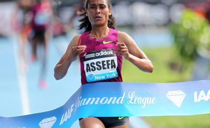 Sofia Assefa from Ethiopia in action at the IAAF Diamond League in Doha last year.