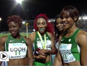 Interview: Nigeria's golden 4x200m quartet in Bahamas