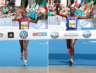 Kandie triumphs in Prague, Melese wins women's race