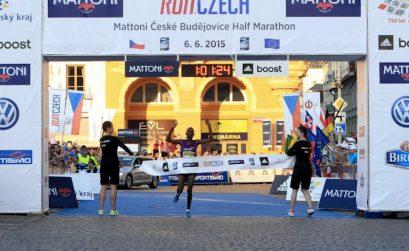Abraham Cheroben wins in Ceske Budejovice / Photo credit: Mattoni Ceske Budejovice Half Marathon