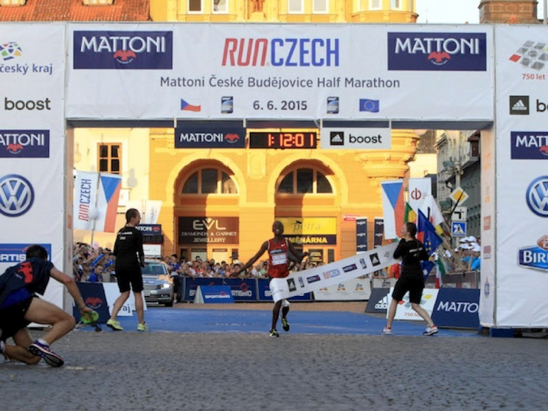 Rose Chelimo wins in Ceske Budejovice / Photo credit: Mattoni Ceske Budejovice Half Marathon