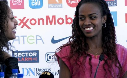 Ethiopia's world indoor 3,000m champion, Genzebe Dibaba at the media conference in Oslo - IAAF Diamond league 2015 / Photo: Marina Heier / IAAF Diamond League