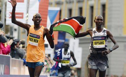 Kenyans Kipsang, Ronoh and Keitany lead the field at the 2015 Mattoni Olomouc Half Marathon on June 20.